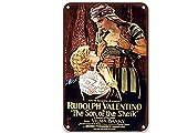 sfasf The Son of the Sheik (1926), carteles de metal de películas vintage estilo vintage para decoración de jardín, decoración del hogar al aire libre de 20 x 30 cm