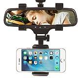 Supporto per auto per specchietto retrovisore auto, staffa universale per smartphone e telefono cellulare per Apple iPhone 7/7s/8/iPhone X/Android/Samsung Galaxy S6/S5, supporto di navigazione GPS