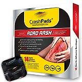 CrashPads® Large Adhesive Bandages for Road Rash, Raspberries, Cuts, Scrapes and Burns (Crash Pads roadrash Dressing) [14pcs: 2-Large, 4-Medium and 8-Small]
