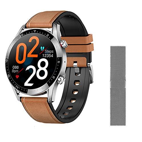 YDK Bluetooth Smart Watch GT05 Hombre IP68 IP68 Impermeable Pulsera Táctil Táctil Femenino Reloj de Reloj Deportivo Smartwatch para Android iOS,A