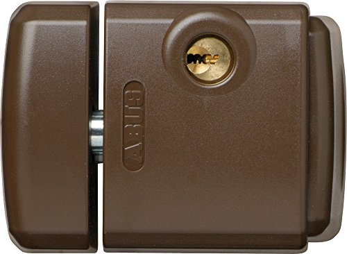 Abus FTS 3003 B C - Cerrojo de presión con soporte para ventana o puerta corredera marrón blister