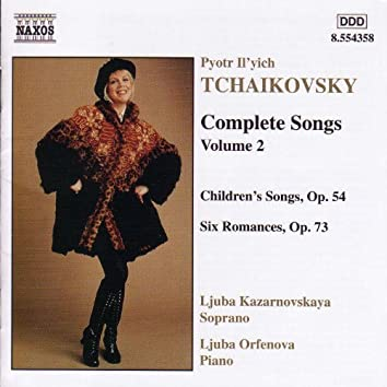 TCHAIKOVSKY: Songs (Complete), Vol.  2