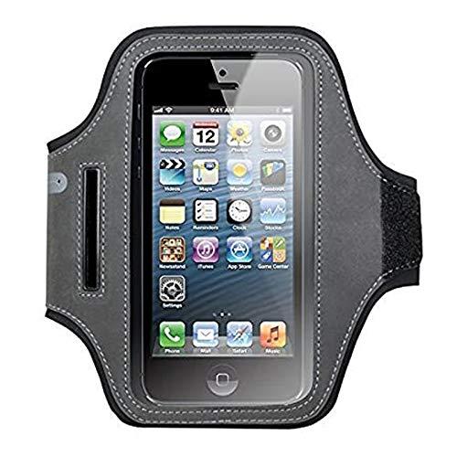 Cygnett - Brazalete para iPhone 6, Samsung Galaxy S5, HTC One M8 y Sony Xperia Z2 (4,7'), Color Negro