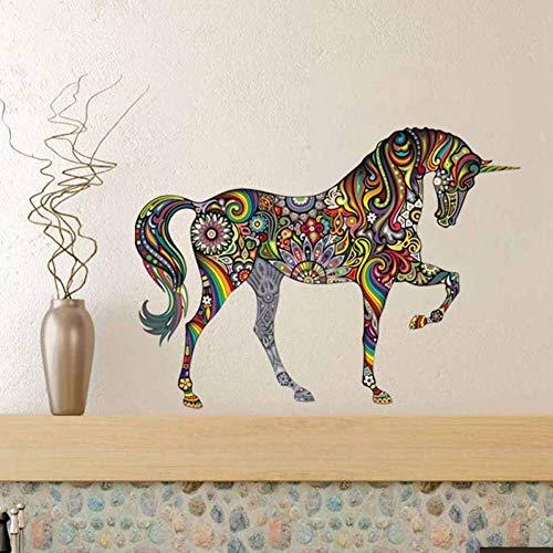 GWFVA Mandala Muursticker Kleur Paard Waterdichte Sticker Living Canap Thuis Muursticker