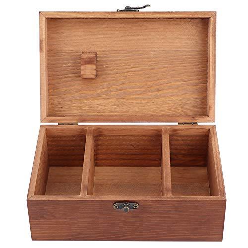 Ladieshow Caja de Costura, Caja de Costura de Madera Vintage para el hogar, Caja de Almacenamiento de Hilo de Aguja, Organizador, Herramientas de Costura(Caja vacia)