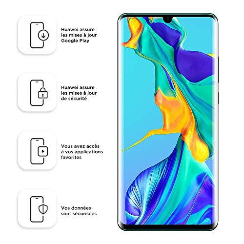 Huawei P30 Pro Smartphone débloqué 4G (6,47 pouces - 8/128 Go - Double Nano SIM - Android 9.1) Bleu aurora [Offre avec bon d'achat]