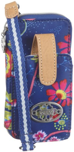 Oilily Mobile Phone Holder OCB1126-5000, Damen, Reisetaschen, Blau (Blue / White), 8 x 4.5 x 13.5 cm (B x H x T)