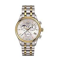 Certina ds-8クロノMoonphaseシルバーダイヤルツートンカラーMens Watch c0334502203100