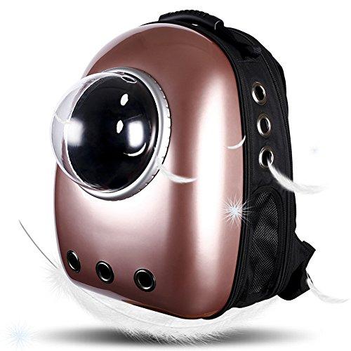 LEMONDA Portable Pet Travel Carrier,Space Capsule Pet Cat Bubble Backpack,Waterproof Traveler Knapsack for Cat and Small Dog Mutil Colors to Choose(Black)