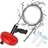 Drain Auger, Mooko Clog Remover, 25 Feet Heavy Duty Flexible Plumbing Snake for Kitchen,Bathrom and Shower Sink, Comes with Gloves