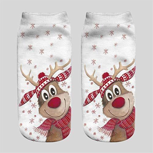 Christmas 3D Printed Socks A267 Unisex Christmas Funny 3D Fashion Printed Casual Socks Cute Low Cut Ankle
