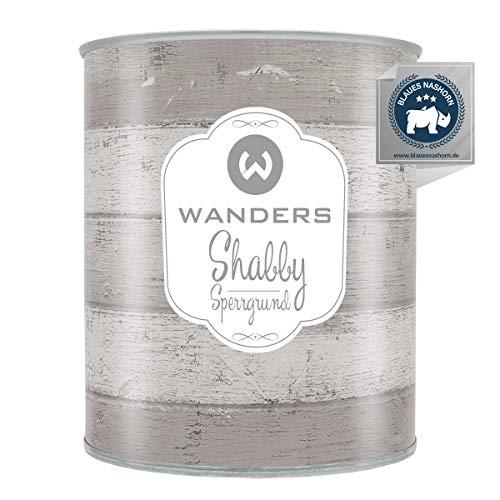 Wanders24®️ Shabby Sperrgrund (750 ml ) Sperrgrund Kreidefarbe für Chalk Paint - Isoliergrund Kreidefarbe auf Wasserbasis - Made in Germany