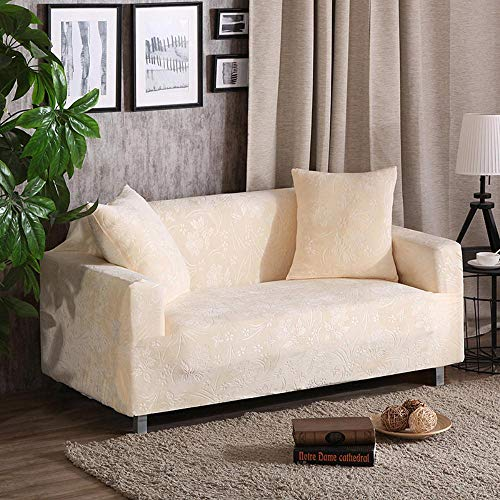 LHYLJN Sofa Cover 1 2 3 4 Seater Sofa Slipcovers Printed Stretch Couch Cover Polyester Spandex Furniture Protector Cover,Kd-06,3 Seater