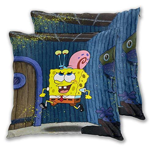 Juego de 2 fundas de almohada con caracol en la cabeza para sofá, cama, silla, decoración de 55,8 x 55,8 cm, color gris