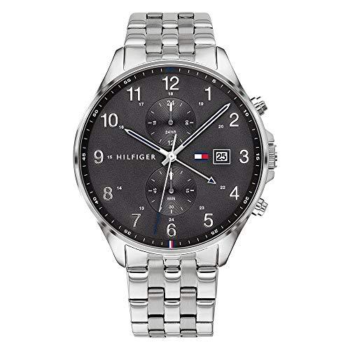 Tommy Hilfiger Herren Analoger Quarz Uhr mit Edelstahl Armband 1791707