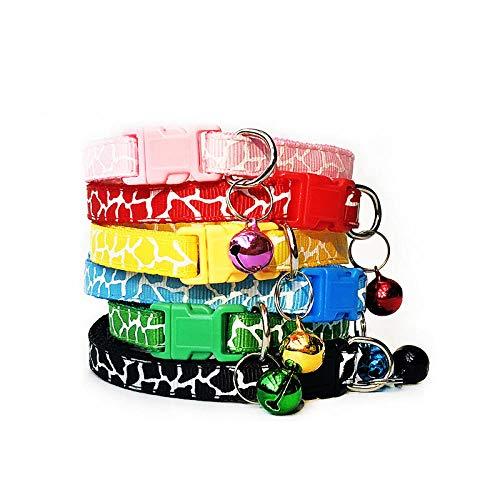 ZYYC Venta al por Mayor 100Pcs Collares para Collar de Perro con Campanas Collar Ajustable Pet Puppy Kitten Collar Accesorios Pet Shop Products-F_100Pcs MixColor