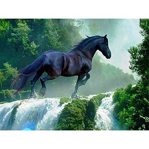 diamond painting horse Yeerum 5D Fai da Te Kit per Pittura Diamante Painting Cavallo Cascata