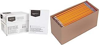 AmazonBasics Multipurpose Copy Printer Paper - White, 8.5 x 11 Inches, 5 Ream Case (2,500 Sheets) & Pre-sharpened Wood Cas...