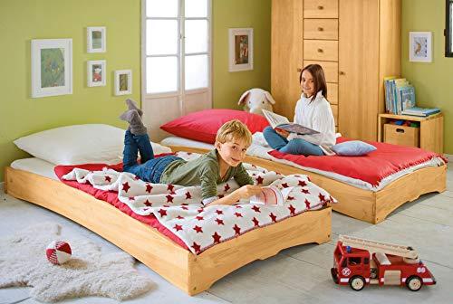BioKinder - Das gesunde Kinderzimmer Set Stapelbett Gästebett