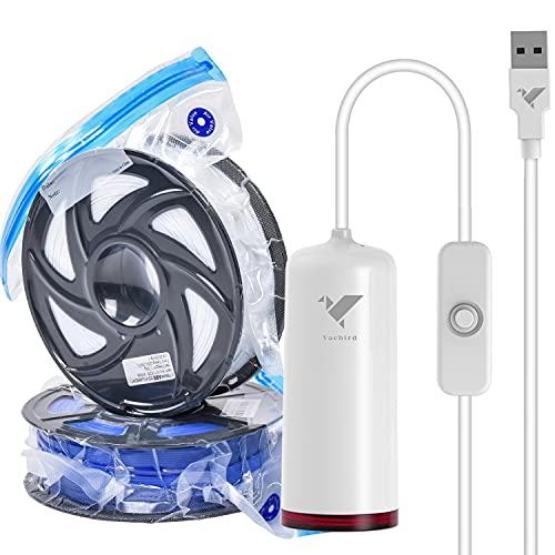 Bomba USB, almacenamiento de filamento 3D, con 10 bolsas de vacío de filamento individuales (30 x 34 cm)