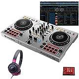 """Pioneer DJ パイオニア DDJ-400-S """"シルバー"""" + ATH-S100BPK 初心者ヘッドホンセット 国内池部楽器店限定モデル (+ ATH-S100BPK)"""