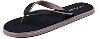 Sumuzhe Cool and Comfortable Men's Thong Classic Flip Flops Sandals Slipper up to Size 10MUS (Color : Black, Size : 7 UK)