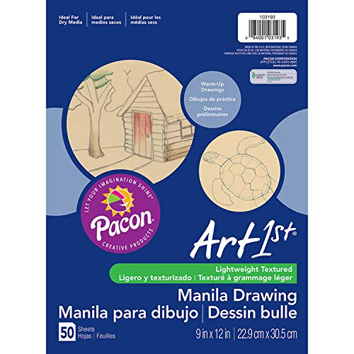 PACON Corporation Cream Manila Drawing Paper 9 X 12