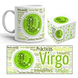 Kembilove Taza de Desayuno Horóscopo Virgo – Taza de café de Signo del Zodiaco Virgo – Tazas de Café y Té Horóscopo Virgo – Regalo Original para Parejas, Cumpleaños, Amigos