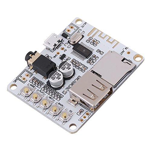 Akozon Mini Wireless Bluetooth Receptor de Audio, Módulo de Placa de Amplificador de Potencia de Audio 4.1 Placa de Circuito sin pérdidas del Amplificador del Altavoz del Coche