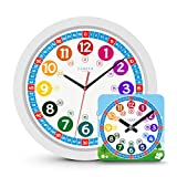 Cander Berlin Reloj de Pared Infantil de 30,5 cm, Multicolor
