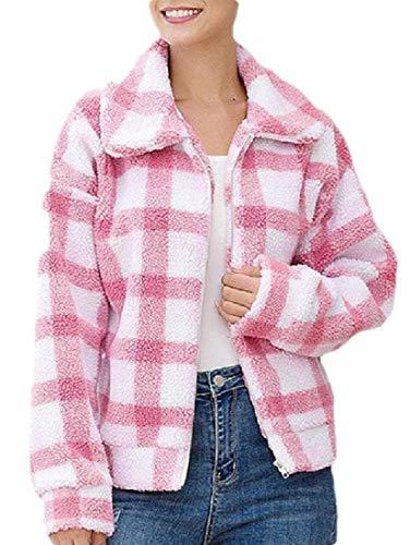 Generic Damen Fleece-Mantel mit Reverskragen und Reißverschluss Gr. XS, 3