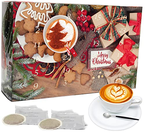 C&T Kaffee Adventskalender 2021 (Pads) | 24 Bio Kaffeepads & fair gehandelte Raritäten + Überraschung im Kalender | Weihnachtskalender Fairtrade