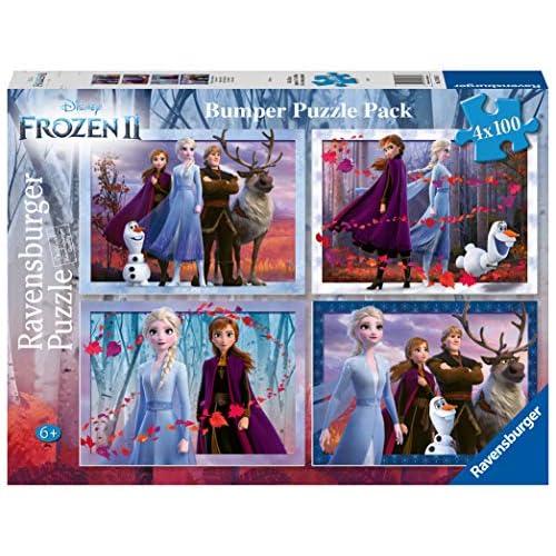 Ravensburger Frozen 2 Puzzle 4 x 100, Bumper Pack, Multicolore, 12885