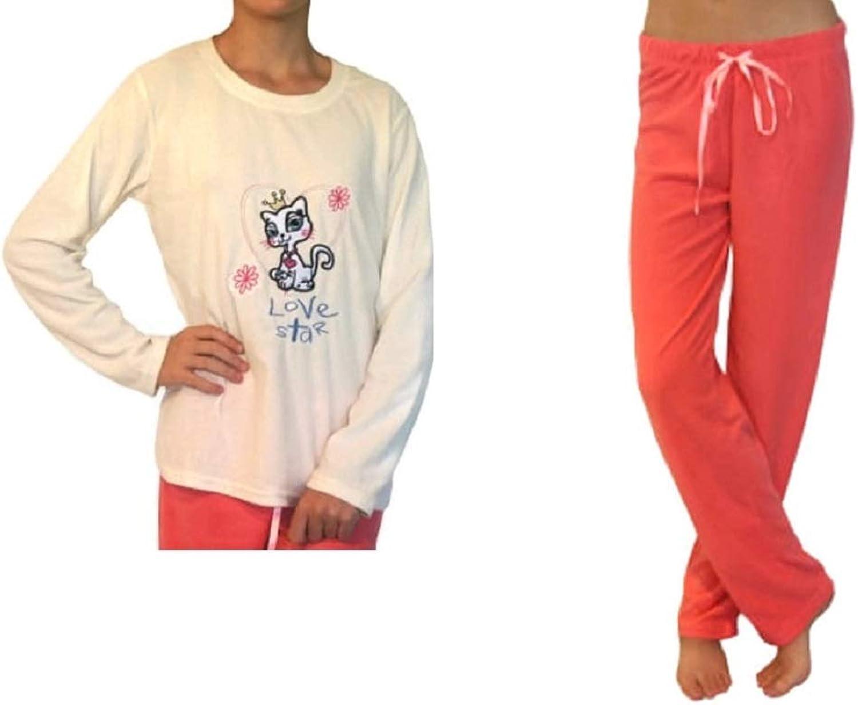 Richontex Women 2 pc Soft Touch Fleece Pajama Emboidery
