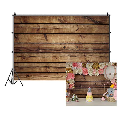 LFEEY 10x8ft Wood Backdrops for Photography Grunge Wood Vintage Worn Wooden Boards Background Seamless Backdrop Brown Wood Photo Backgrounds Wood Wall Wrinkle Free Photography Backdrops Photo Studio