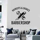 Tianpengyuanshuai Sticker Mural Coupe de Cheveux rasé Professionnel Salon de Coiffure décoration de Cheveux Vinyle Autocollant 68X72 cm