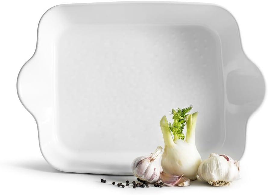Sagaform white Piccadilly Oven Rectangular 保証 Dish ハイクオリティ