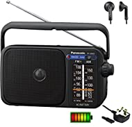 FM/AM Analogue Radio with Digital Tuner for better & more accurate/Stable tuning , Please note this is not a DAB Radio. Works with Batteries (4 x AA) or Direct Mains . Includes Detachable mains lead.(Batteries not included) Big Radio Dial Panel for e...