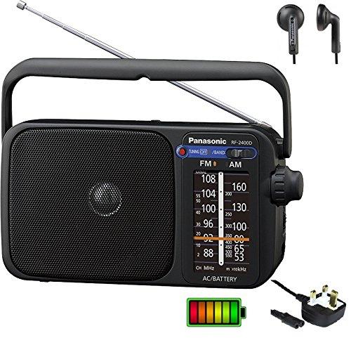 Panasonic RF-2400D Digital (Not Dab) AM FM Portable Radio AC DC with Headphone Socket