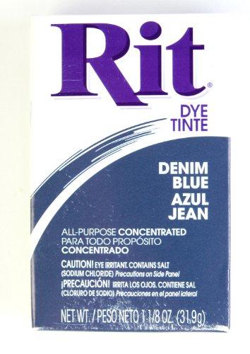 Rit Dye Powder Dye, 1-1/8 oz, Denim Blue, 3-Pack