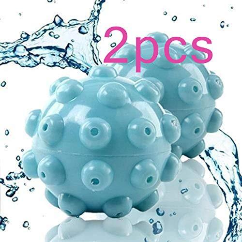 Nšilko Palla della Lavanderia,Che Rilascia Le Palle ,Dell'essiccatore Palla ,D'addolcimento Steamy Ball, Palline Riutilizzabili Blu per Lavasciuga,Grande per Asciugare I Vestiti (Blu,2pcs)
