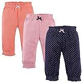 Hudson Baby Unisex Baby Cotton Pants, Navy Polka Dots, 5 Toddler