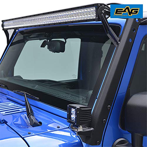 Upgraded 8460lm with Exclusive Curved Lens Wind Diffuser and 14 Gauge Wiring Harness Waterproof Switch MICTUNING Magical M1s 19 Inch 108w Aerodynamic LED Light Bar 6000K Crystal White