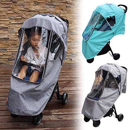 LZDseller01 cubierta impermeable para cochecito de bebé, accesorios de protección contra la intemperie, tamaño universal, impermeable y protección contra insectos, para cochecito de bebé, protección contra el polvo y el polvo, Gris, Tamaño libre