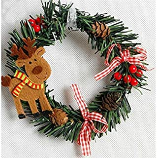 Christmas Party Christmas Garland Door Hanging Ornaments Room Christmas Tree Pendants for Decoration(Elk)