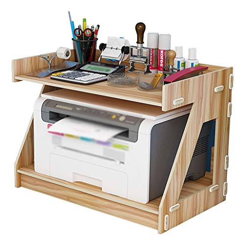 Soporte para Impresora Pequeño soporte de impresora de escritorio Oficina Oficina de escritorio Organizador Soporte de escritorio de 2 capas Máquina de fax Máquina de fax Máquina de estantería (blanco