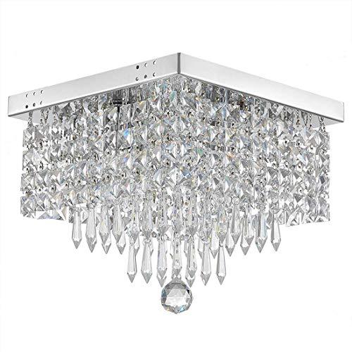 FAGavin Lámpara de techo de cristal de pasillo W8 con lámpara de techo cuadrada moderna