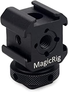 MAGICRIG 3-Side Cold Shoe Mount Adapter Camera Hot Shoe Bracket for Flash Light, LED Video Light, Microphone, Monitor Mount