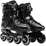Milky Way Men and Women Roller Skates Classic Comfortable Roller Skates Inline Skates Adjustable Roller Skates for Girls and Boys (Black,41)