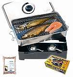 Behr Edelstahl-Tischräucherofen geräucherte forellen-51Ky02n57AL-Geräucherte Forellen – Anleitung Fisch räuchern
